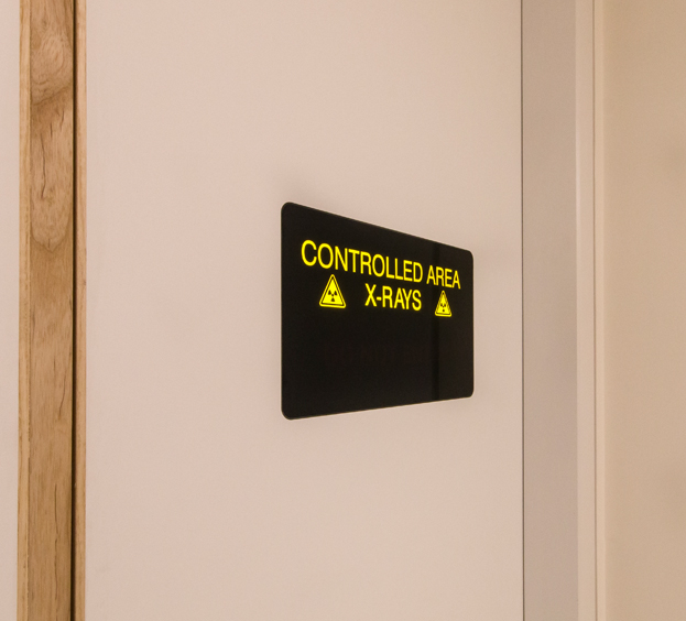 Flush Mounted Warning Lights - Raybloc Xray Protection